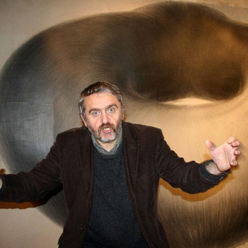 Jirí Kornatovský à la galerie Intuiti, à Paris.