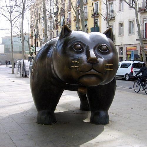 El Gato (à Barcelone), Fernando Botero, 1990.