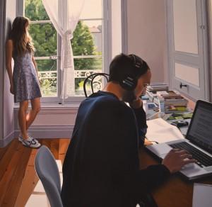 Dans le bureau, Adrien Belgrand, 2013.