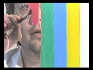 Ecran, tableau-vidéo, Richard Skryzak, 1988.