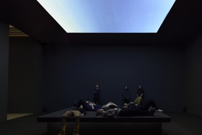 Vue de l'installation « Bed Down Location », Laura Poitras