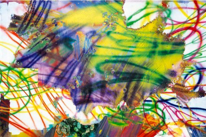 <i>Sans Titre</i>, Katharina Grosse, 2008.