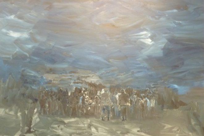 «Les Temps Modernes», Yan Pei-Ming, 2015