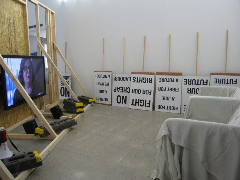 Vue de l'exposition de Koki Tanaka à l'Open Eye Gallery.