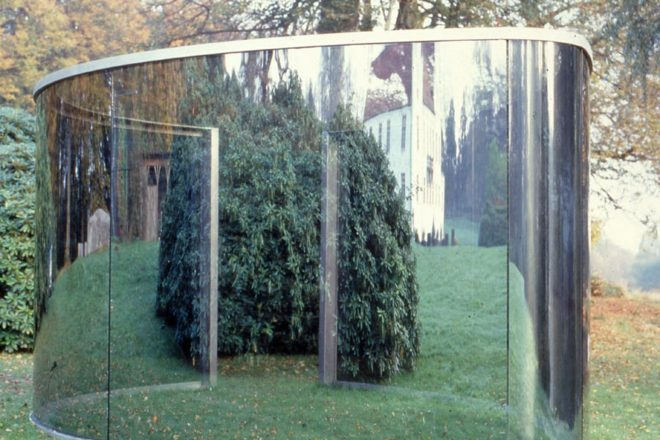 «Two Different Anamorphic Surfaces», Dan Graham, 2000
