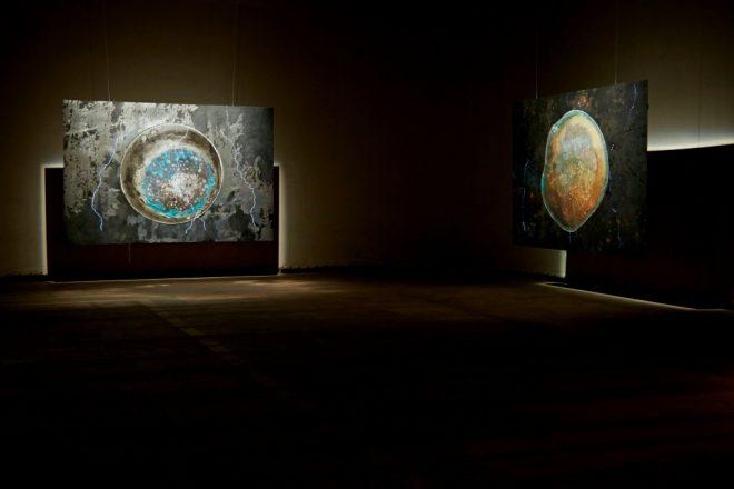 Vue de l'exposition «Unstruck», Subodh Gupta