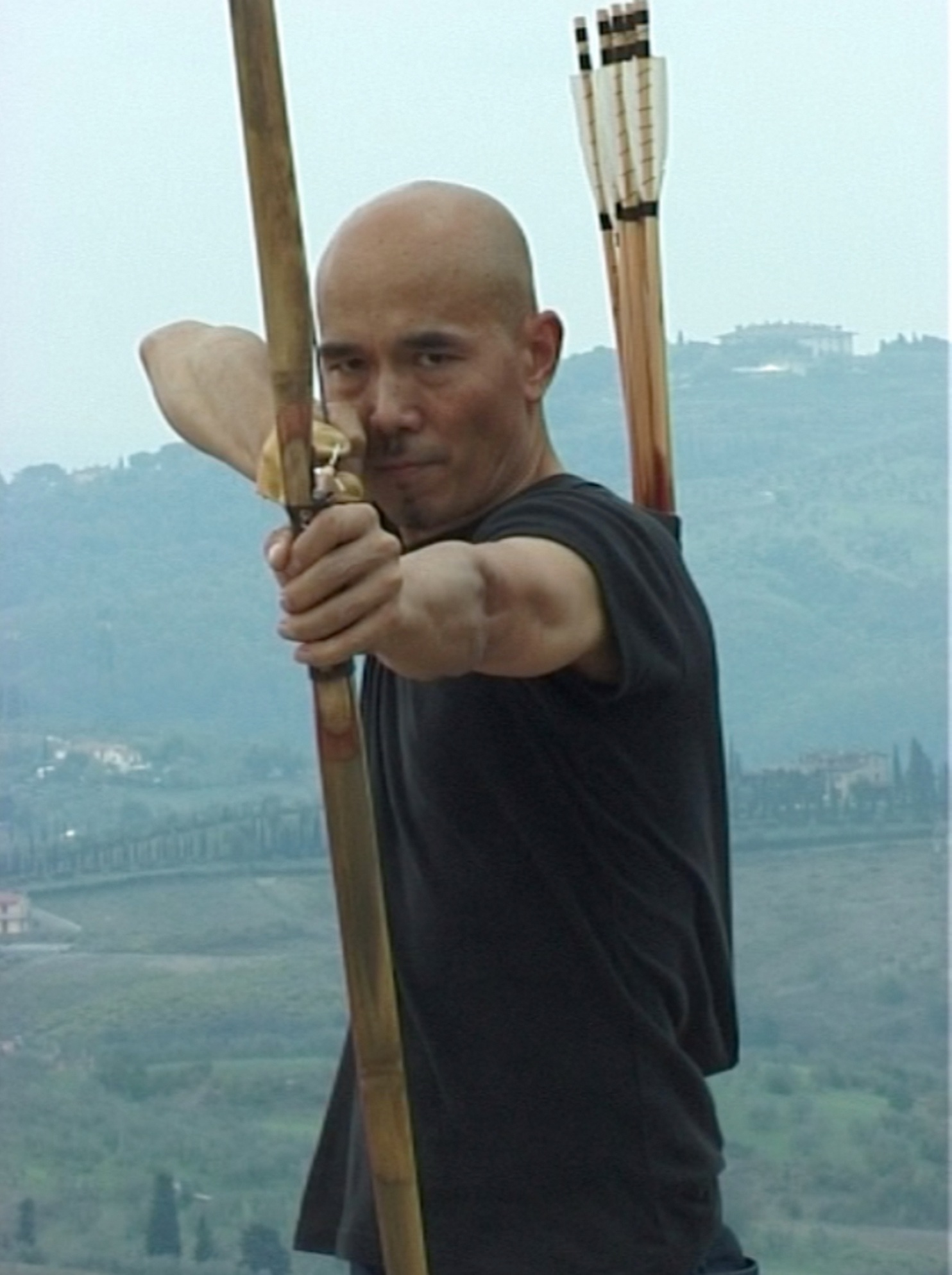 Yang Jiechang dans la vidéo Landscape Da Vinci, 2009.