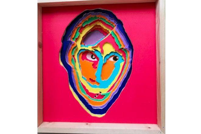 « Masque biface Pende », Aimé Mpane