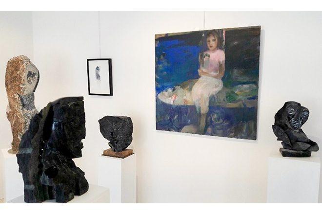 Vue de l'exposition «A fleur de pierre», Catherine Seher et Jean-Yves Gosti