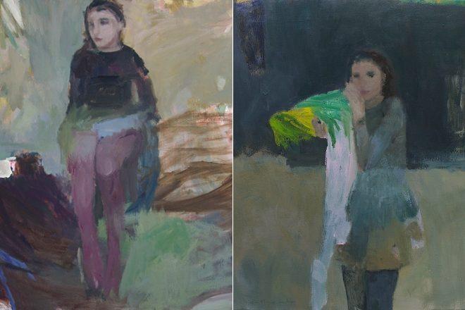De gauche à droite, «La manche bleue» et «Quelque chose d'Alice», Catherine Seher