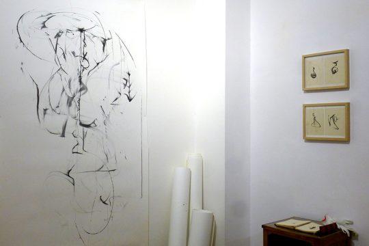Vue de l'exposition « Encres lapsus du souffle », Davide Napoli