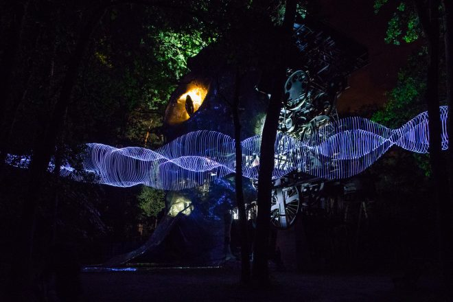 « Light show » (ici au Cyclop), Caty Olive et Laurent Friquet