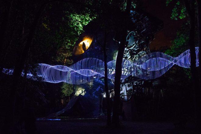 «Light show» (ici au Cyclop), Caty Olive et Laurent Friquet