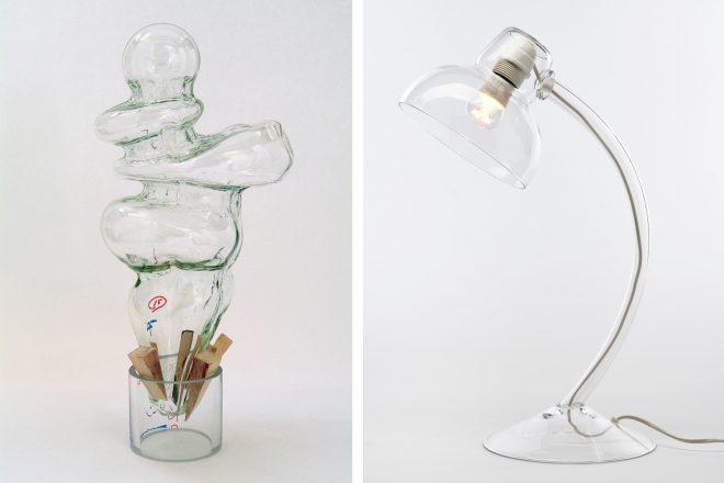 De gauche à droite: «Marseille Template #15» (2004-2006) Terry Winters et lampe de bureau signée Philippe Parreno (1997)