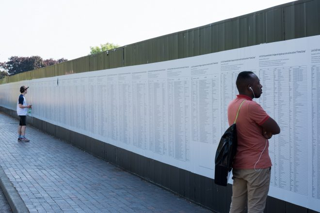 « The List of 34,361 documented deaths of asylum seekers (…) », Banu Cennetoğlu, 1993-2018