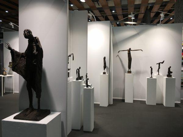 Sculptures signées Marc Petit, galerie Gérard Nicolet