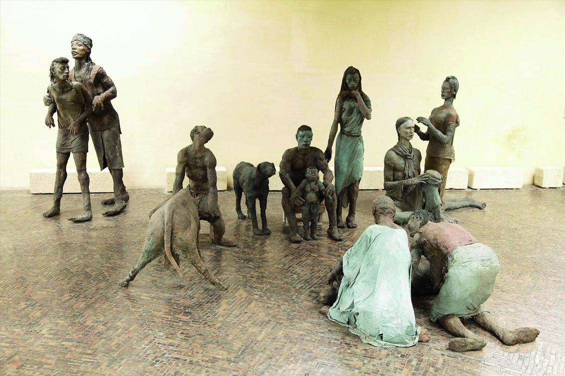 «Scène familiale Peulh», Ousmane Sow