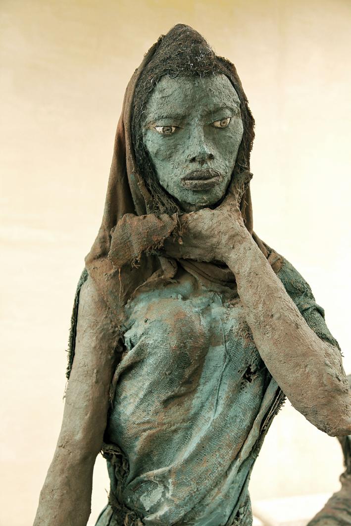 «Scène familiale Peulh» (détail), Ousmane Sow