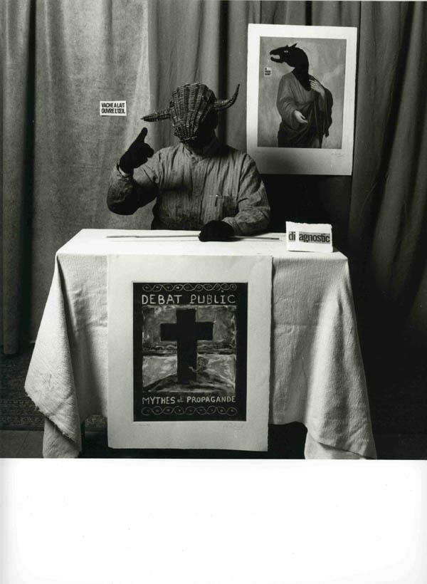 Alain Prillard | Série TOUT Rien VA ne TRES va BIEN plus, Mythes et propagande, n°8, 23 x 23 cm | 2003