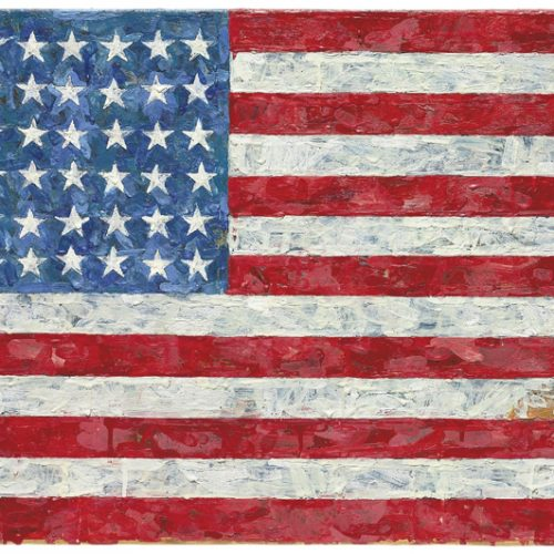 Jasper Johns courtesy Christie's