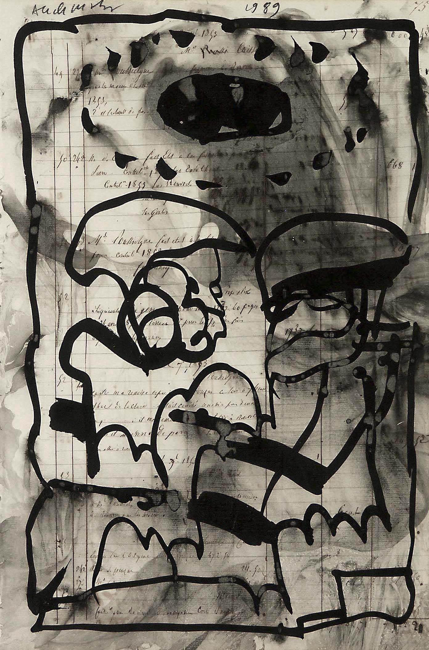 Pierre Alechinsky courtesy galerie Grand'Rue