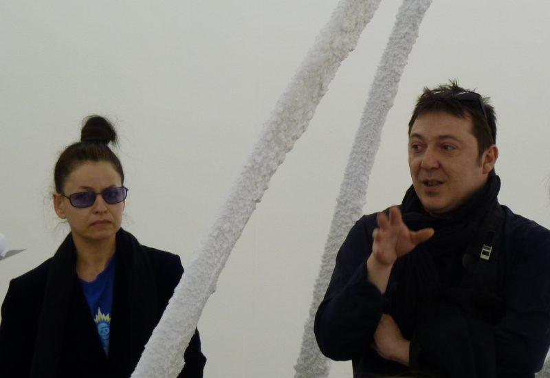 Marie Péjus et Christophe Berdaguer à l'Institut d'art contemporain de Villeurbanne.