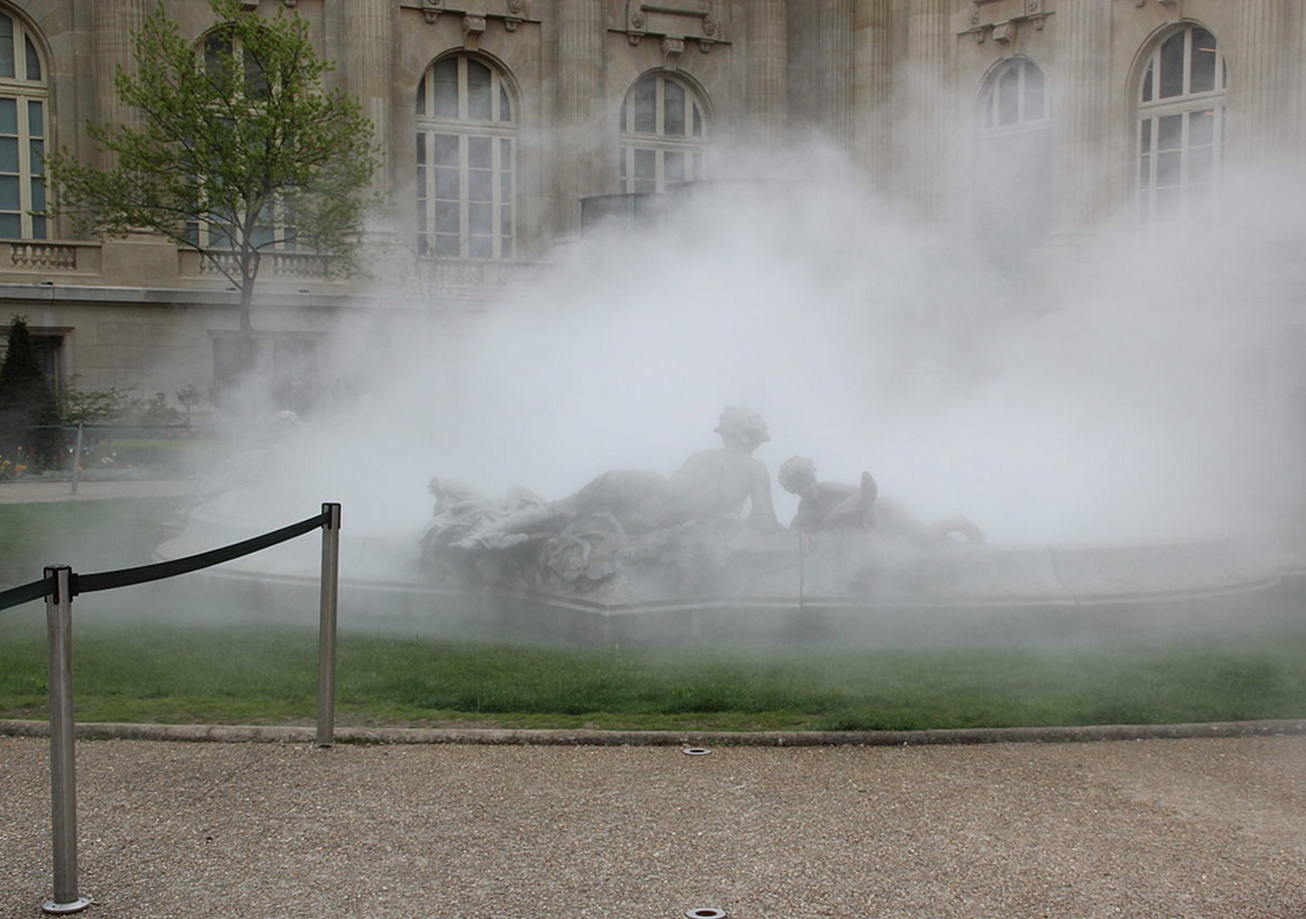 Sculpture de brume