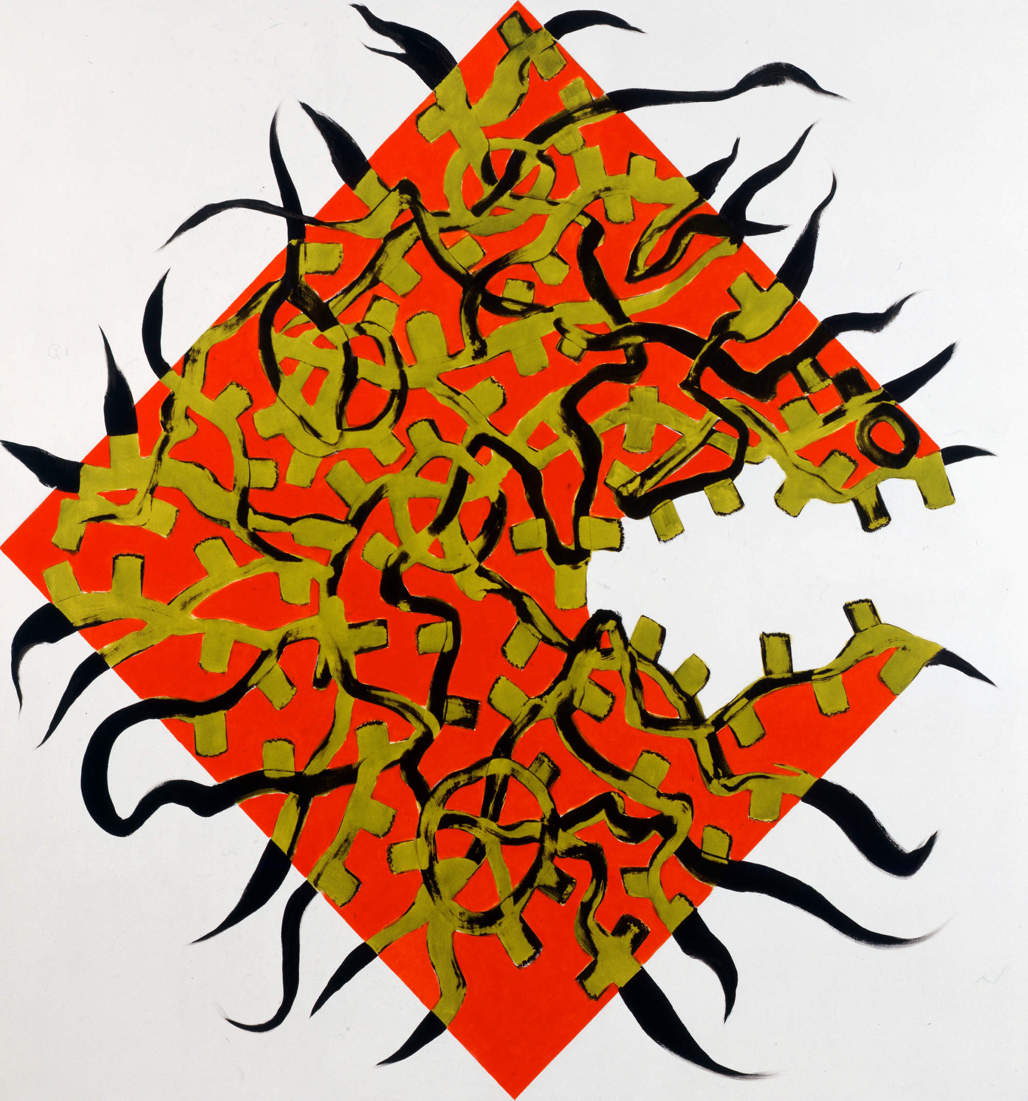 Charline von Heyl, courtesy galerie Gisela Capitain et Petzel Gallery