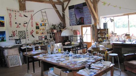 L'intérieur de l'atelier