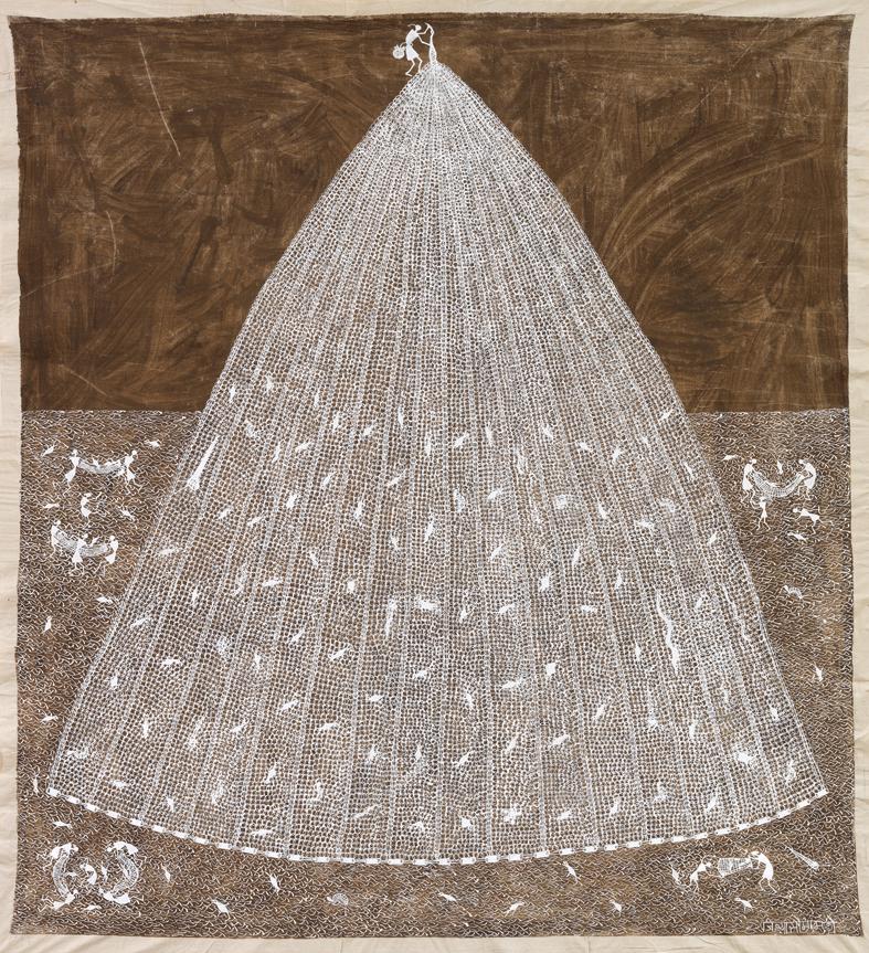 Jivya Soma Mashe, collection Fondation Cartier pour l'art contemporain, Paris, photo André Morin