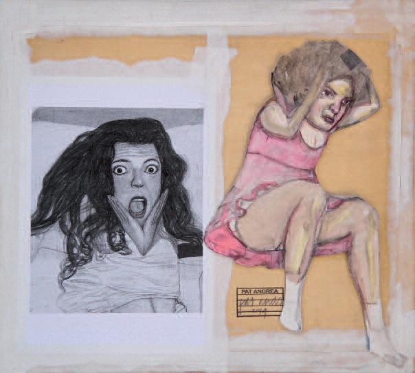 Proposition, collage sur bois (55 x 65 cm)