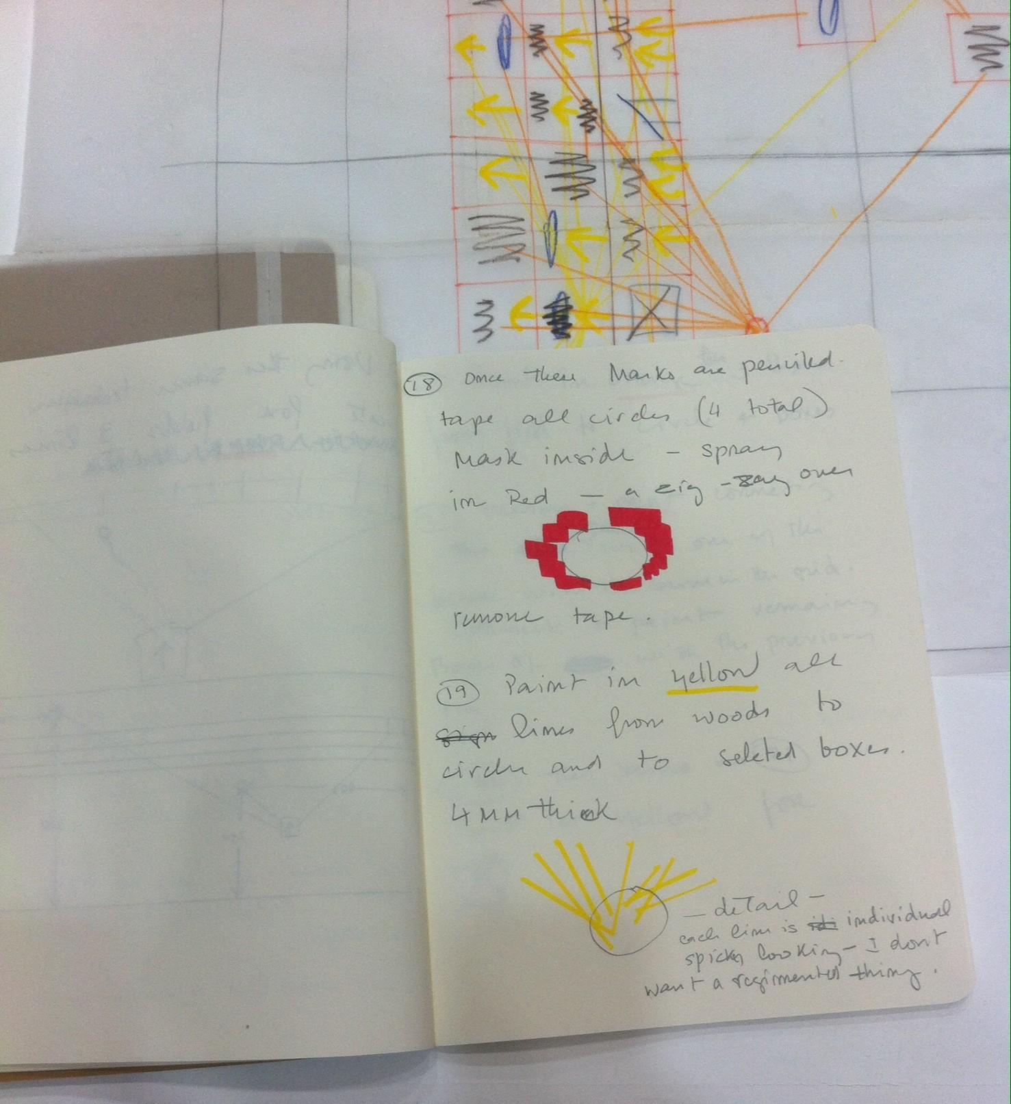 Croquis et notes préparatoires@au projet At Intervals