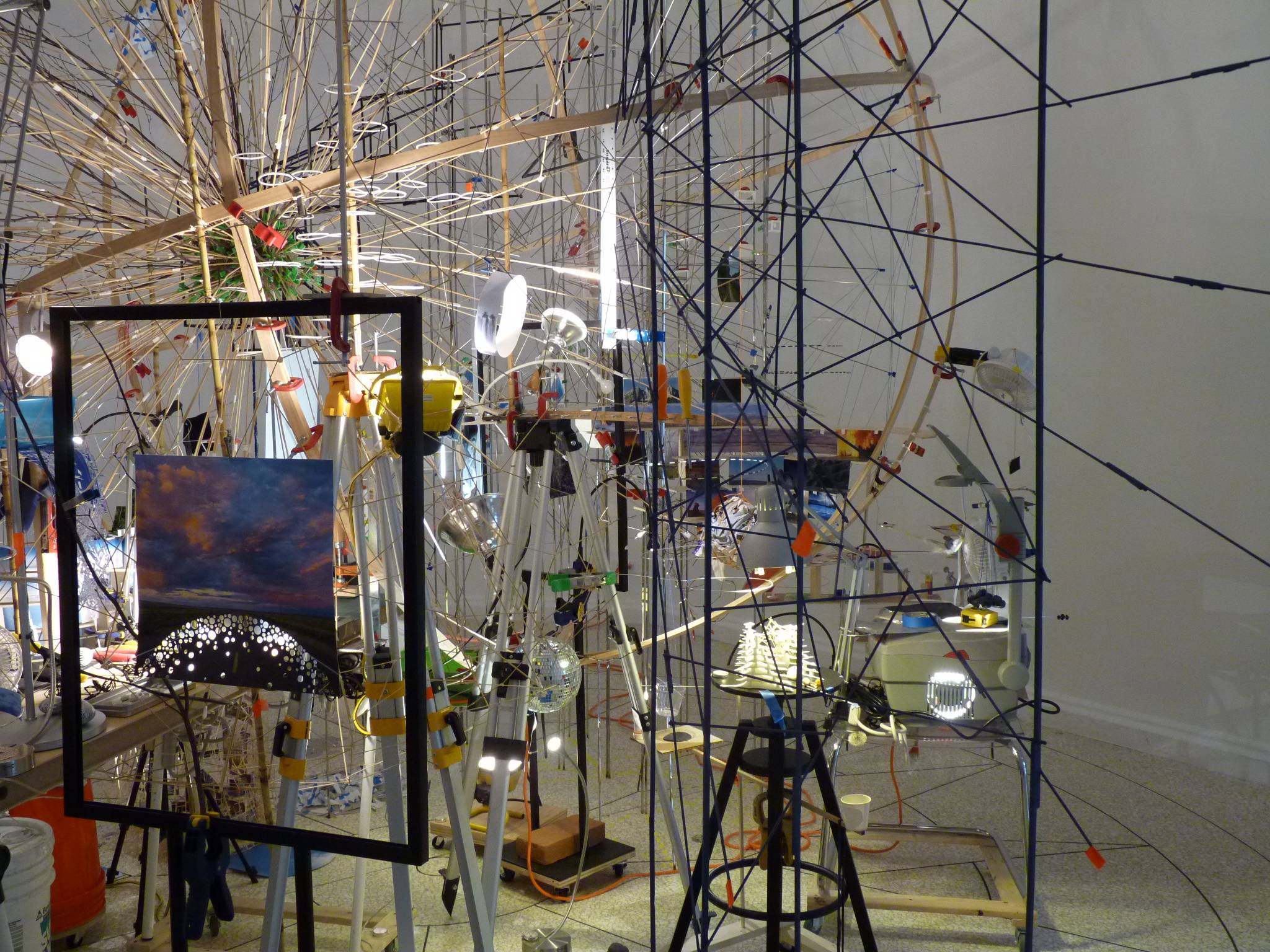 Sarah Sze, photo S. Deman