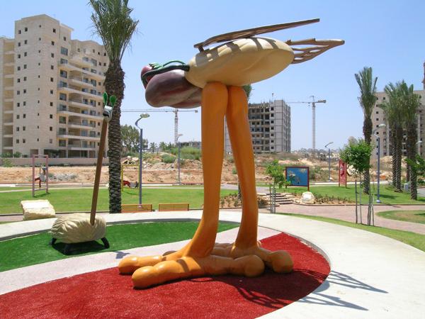 Sculpture dans l'espace public@ à Holon en Israël