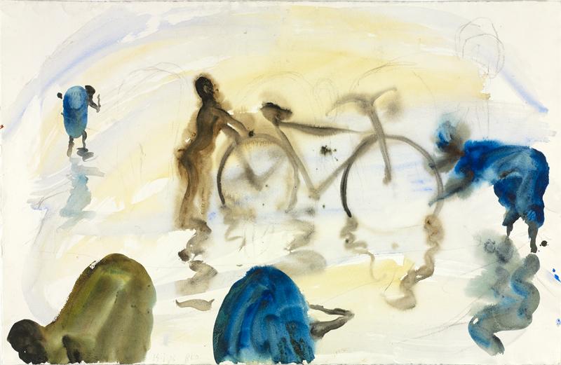 Sans titre, aquarelle sur papier, 61×96 cm,