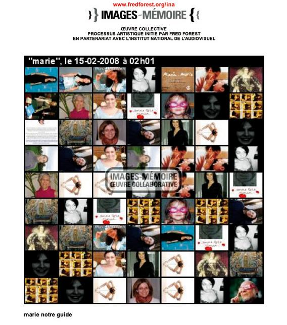 Images_Mémoire, œuvre collective, initié par Fred Forest et l'INA.