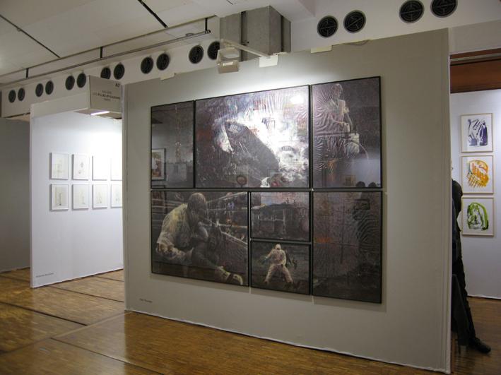 |Dessins de Paul Pouvreau réalisés@ pour la galerie Les Filles du calvaire@ au salon du dessin contemporain 2010 |