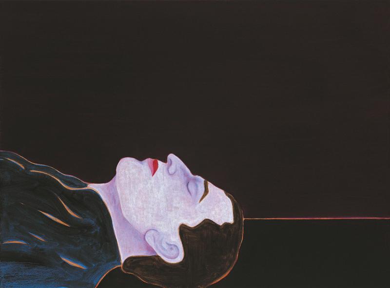 Sans titre, (60 x 80 cm), huile et cire sur toile