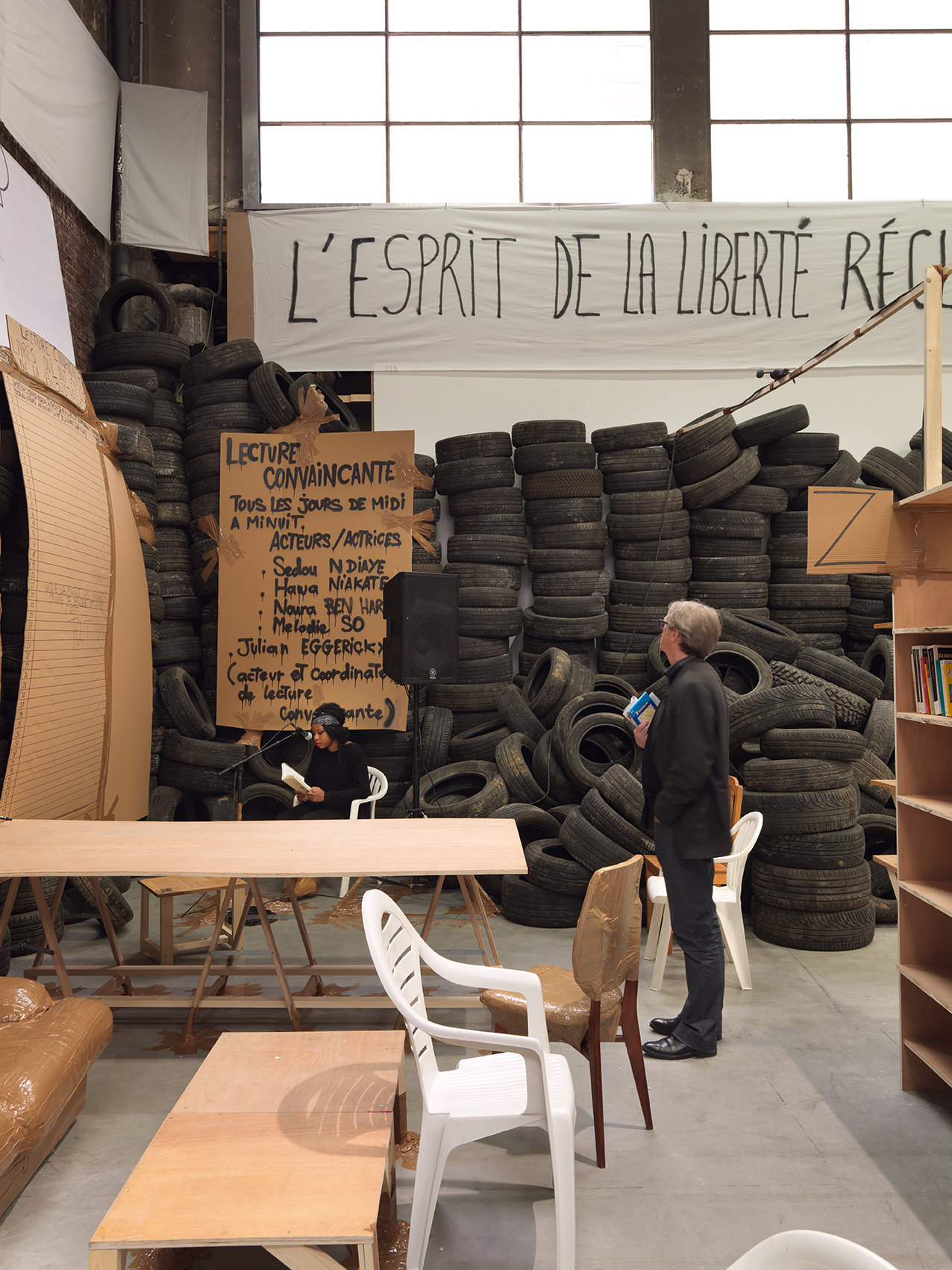 Thomas Hirschhorn, photo André Morin / ADAGP