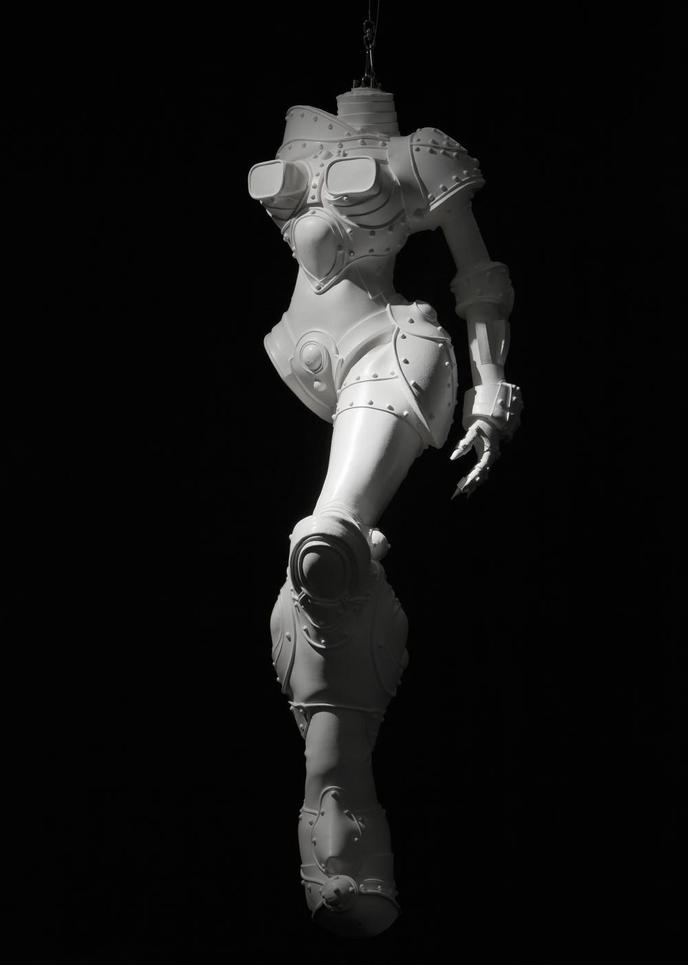 Cyborg W1, silicone, polyuréthane, pigments colorés (185 x 56 x 58 cm)