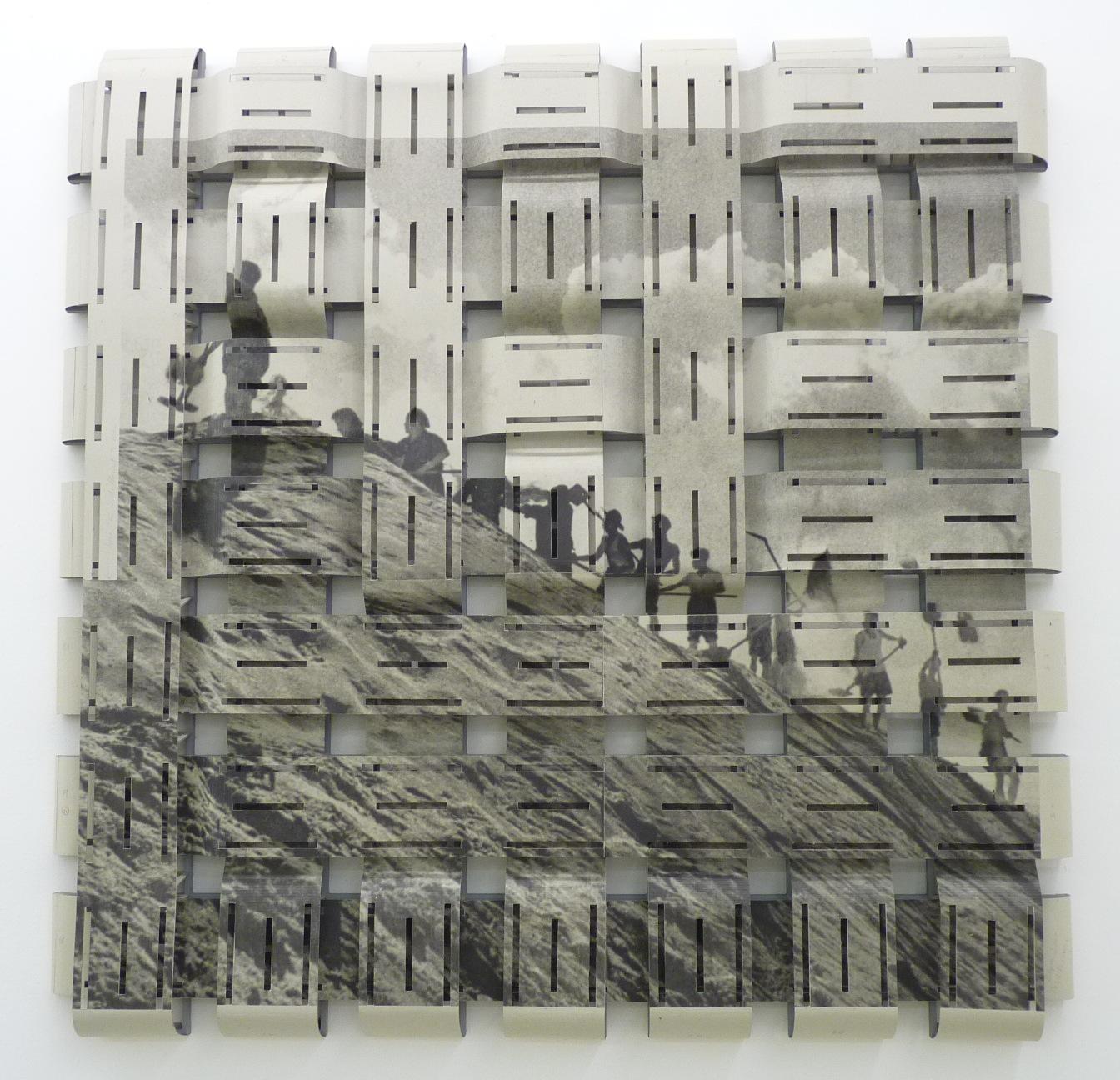 Arbeiter (Zeichen für Erde), sérigraphie, acrylique, carton et bois