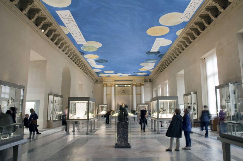 The Ceiling, huile sur toile, simulation